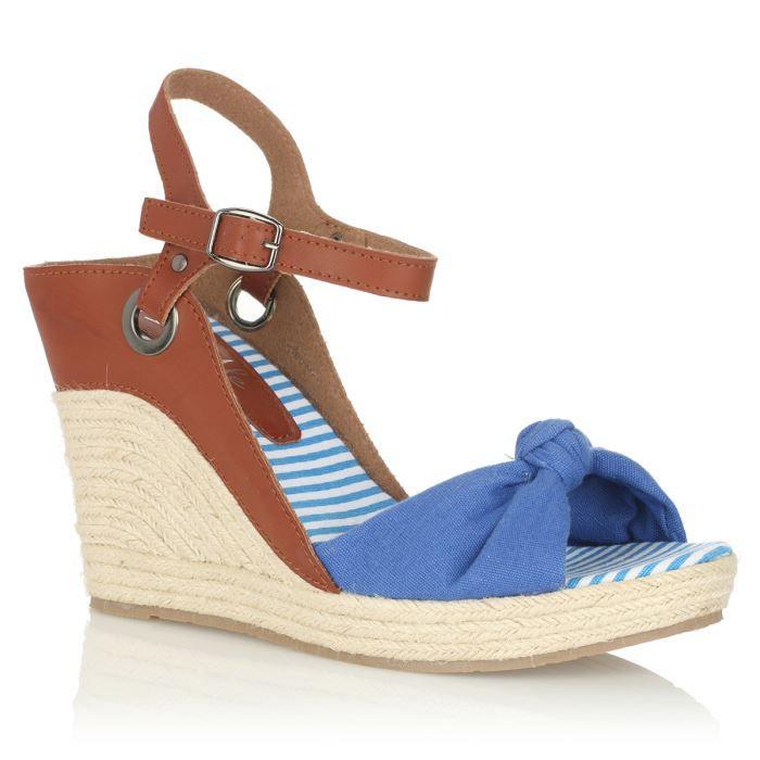 initiale paris sandales tessa femme femme marron bleu achat vente initiale paris sandales. Black Bedroom Furniture Sets. Home Design Ideas