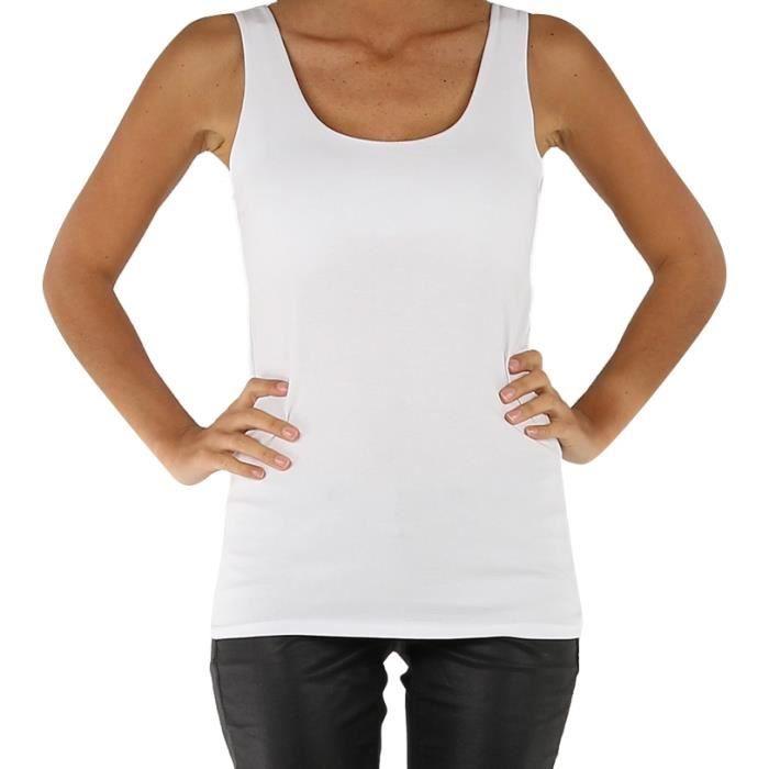 top d bardeur femme blanc uni coton t u blanc achat vente d bardeur 2009946497699 soldes. Black Bedroom Furniture Sets. Home Design Ideas