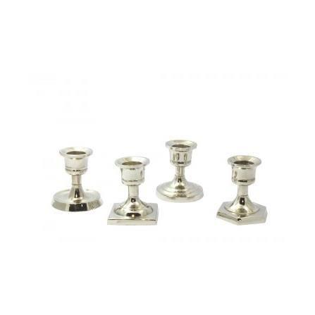 Set de 4 chandeliers de table argent s coffret de 4 for Set de table argente