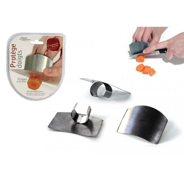 Prot ge doigt m talique achat vente couteau de cuisine for Protege couteau cuisine