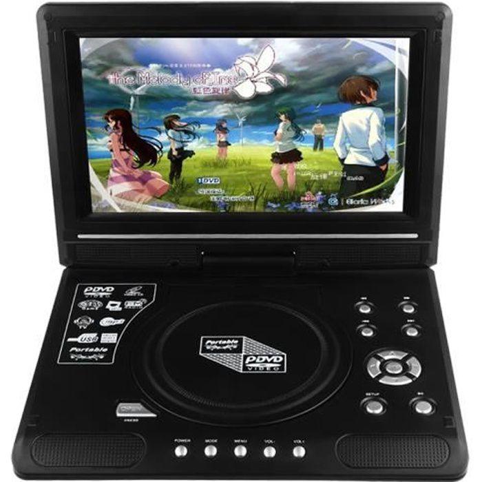 9 8 lcd afficher lecteur de dvd lecteur de t l viseur portable 270 ecran rotatif avec lecteur. Black Bedroom Furniture Sets. Home Design Ideas