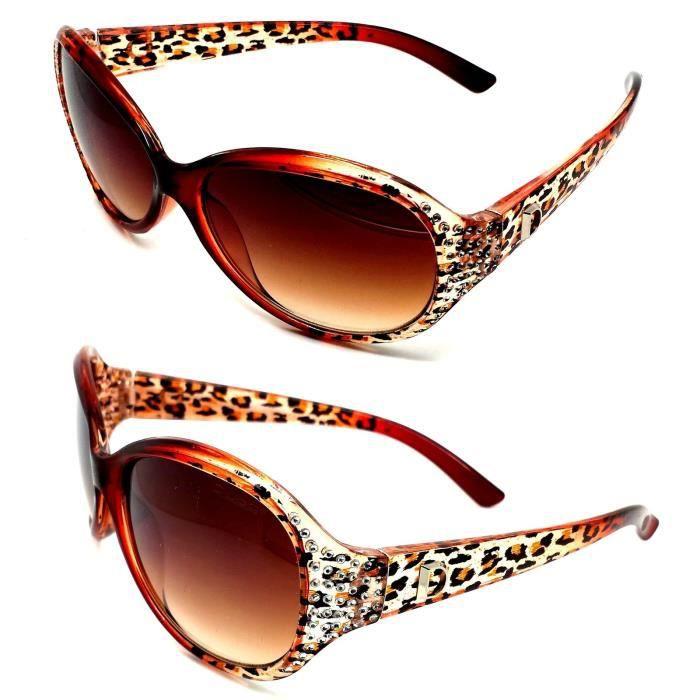 lunettes soleil femme l opard strass christian d caille marron diamants masque l opard marron. Black Bedroom Furniture Sets. Home Design Ideas