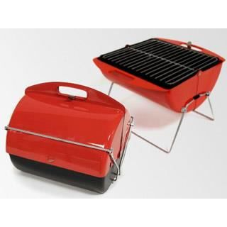 Barbecue somagic portatif roll and cook rouge charbon achat vente barbe - Barbecue portatif charbon ...