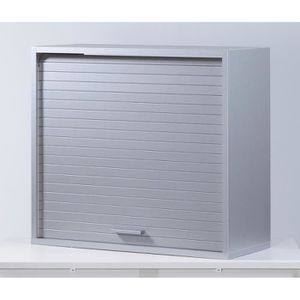 Meuble haut de cuisine vitre blanc achat vente meuble - Meuble avec rideau coulissant pour cuisine ...