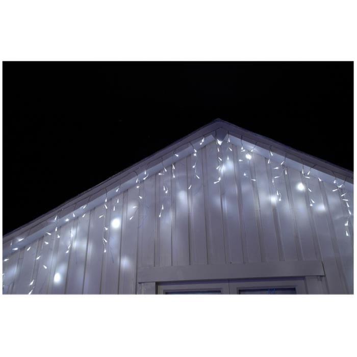 Gla on lumineux de no l ext rieur blanc 50cm x 5m 180 led for Lumiere exterieur facade