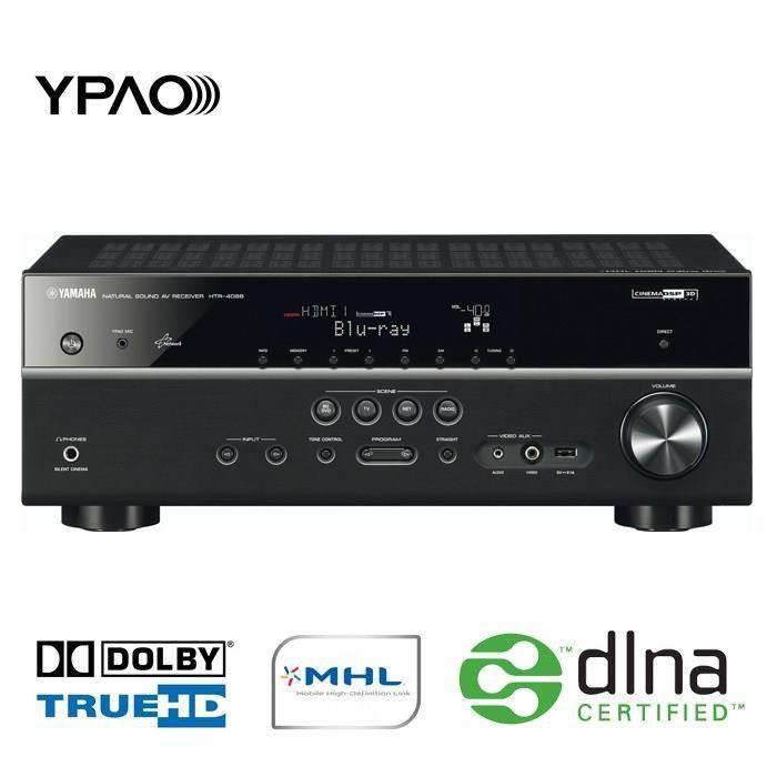 Ensemble home cinéma YAMAHA HTR4066BL Amplificateur Home Cinéma 5.1