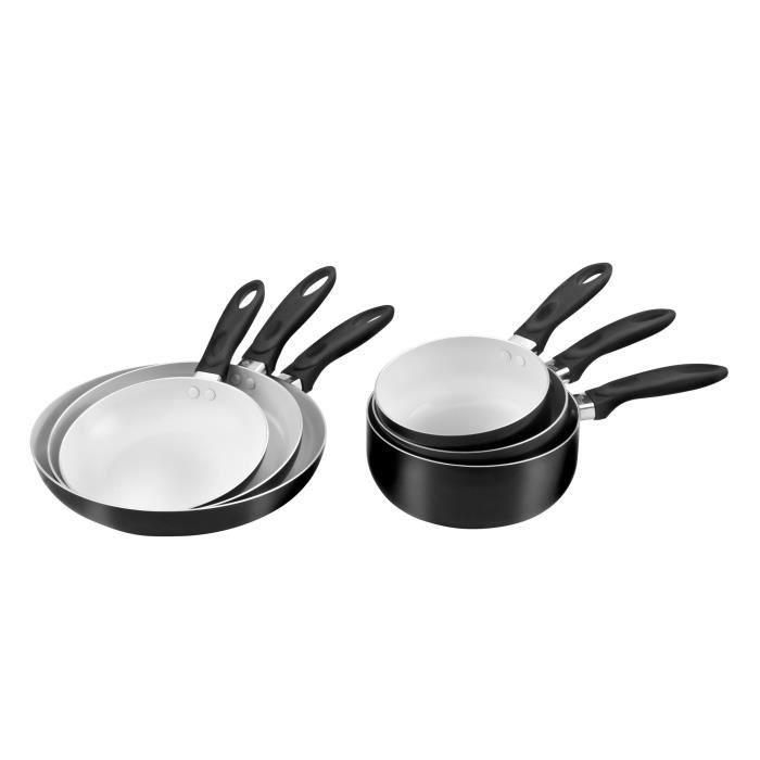pradel excellence set 6 pi ces c ramique induction achat vente batterie de cuisine pradel. Black Bedroom Furniture Sets. Home Design Ideas