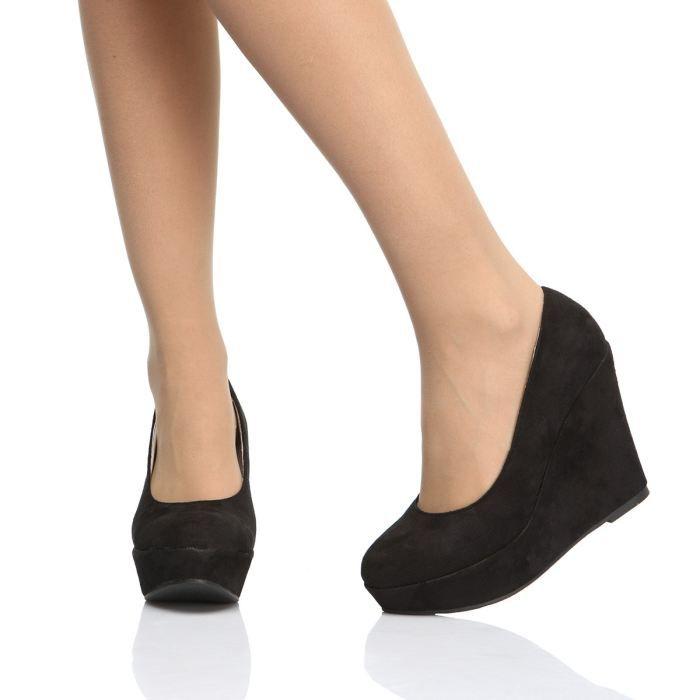 ARIAN Chaussures Compensées Femme femme Noir - Achat / Vente ARIAN ...