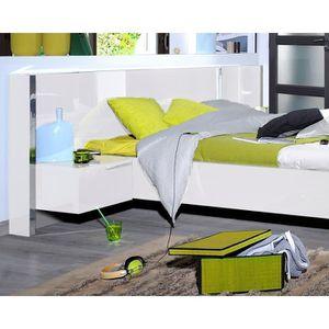tete de lit avec chevet achat vente tete de lit avec. Black Bedroom Furniture Sets. Home Design Ideas