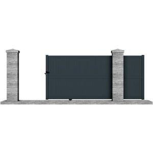 portail coulissant 3 50 m achat vente portail coulissant 3 50 m pas cher cdiscount. Black Bedroom Furniture Sets. Home Design Ideas