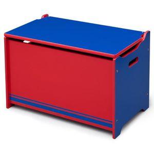 COFFRE À JOUETS Coffre à jouets en bois Bleu et rouge