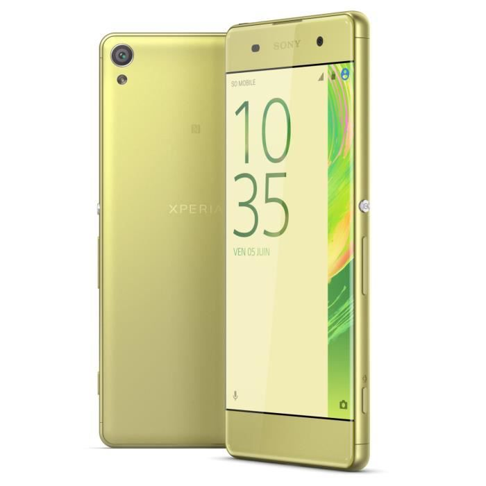 sony xperia xa 16 go lime or achat smartphone pas cher. Black Bedroom Furniture Sets. Home Design Ideas