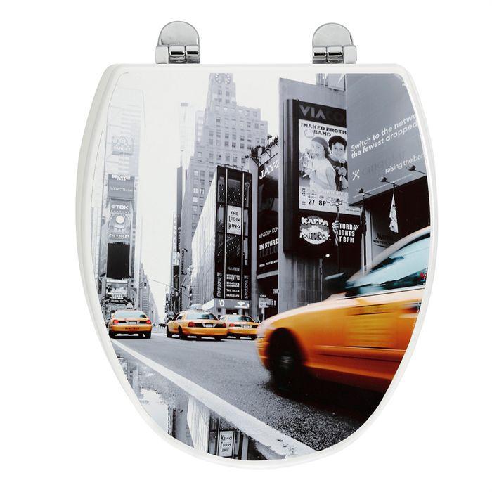 Abattant allibert city 39 s new york bois achat vente abattant wc abatta - Achat maison new york ...