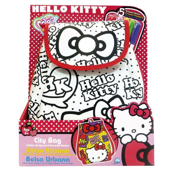color me mine sac city hello kitty achat vente support d corer cdiscount. Black Bedroom Furniture Sets. Home Design Ideas