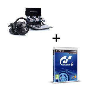 VOLANT CONSOLE Volant T500RS GT5 + Gran Turismo 6 PS3