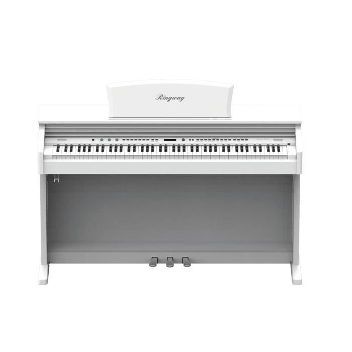 ringway piano meuble concerto 8876 laqu e blanc pas cher. Black Bedroom Furniture Sets. Home Design Ideas