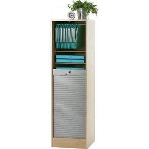 Meuble classeur rideau 140 cm erable alu achat for Meuble classeur rideau
