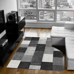 TAPIS BELIS Tapis de salon contemporain 200x290 cm gris,