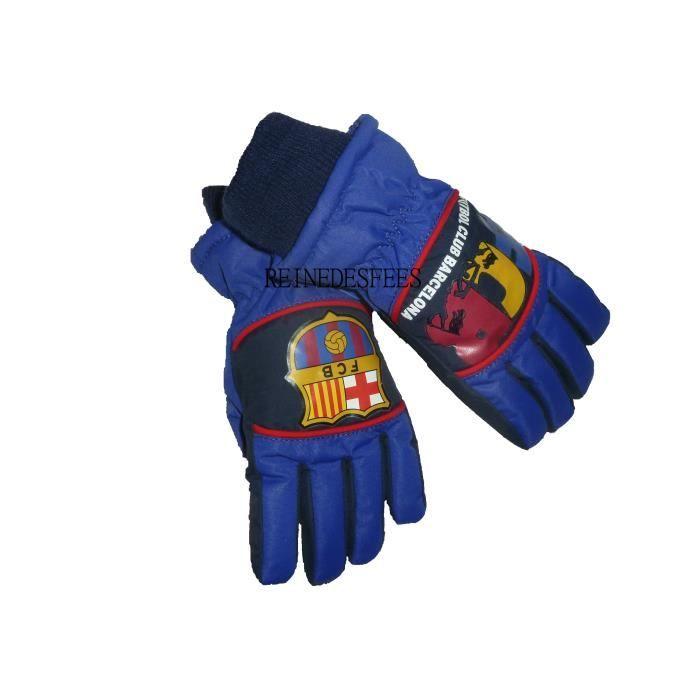 paire de gants de ski fc barcelone enfants gar ons de 5 6 ans foot fcb messi neymar bar a bleu. Black Bedroom Furniture Sets. Home Design Ideas