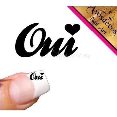 Couleur a choisir 10 stickers ongle spécial mariage Oui