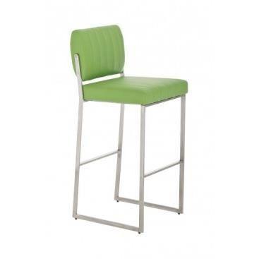 Chaise haute de bar mirella vert achat vente chaise acier inoxydable - Cdiscount chaise de bar ...