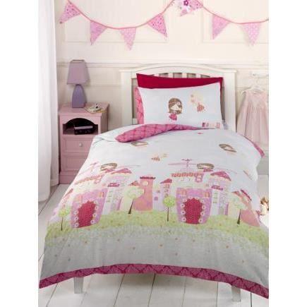 Fee du chateau parure de lit 140cm achat vente parure de drap cdiscount - Cdiscount parure de lit ...