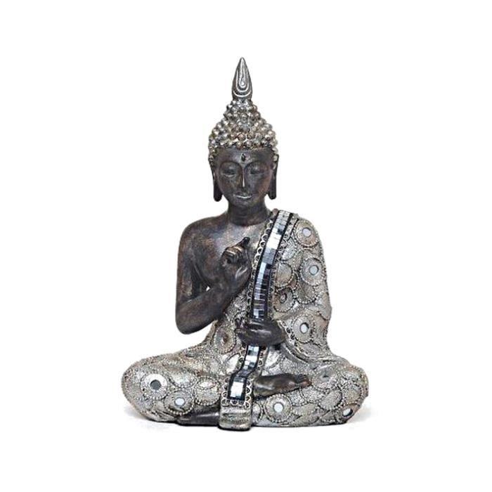 bouddha neuf statue 28cm design r sine strass deco zen achat vente statue statuette. Black Bedroom Furniture Sets. Home Design Ideas
