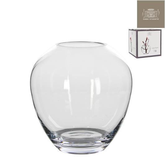 Vase en verre transparent achat vente vase soliflore for Decoration vase en verre