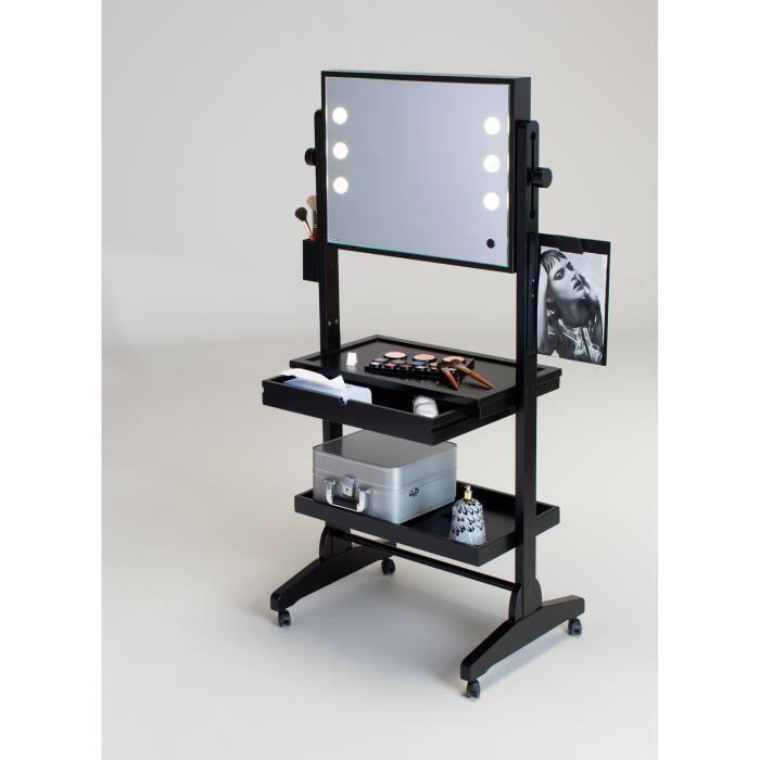 table de maquillage avec miroir toute surface sur roues achat vente coiffeuse table de. Black Bedroom Furniture Sets. Home Design Ideas
