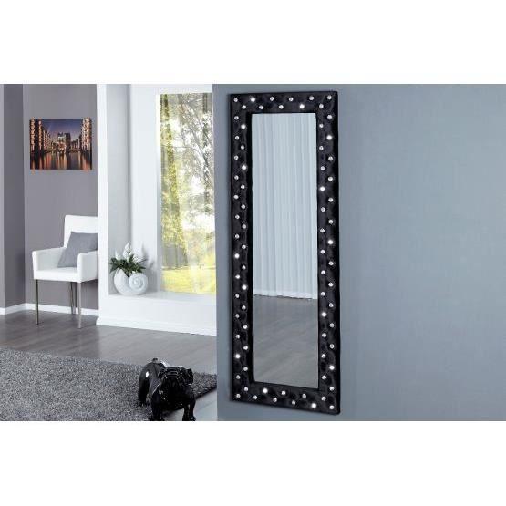 Miroir design stariss noir achat vente miroir tissu for Miroir noir design