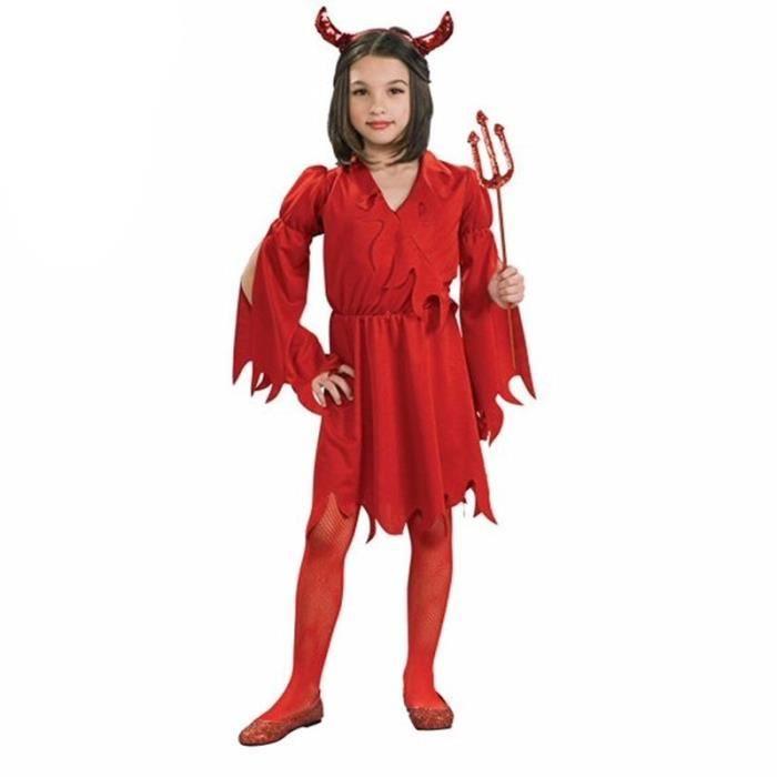 femme halloween costume diable sorciere robe f te cosplay d guisement chapeau pour enfants. Black Bedroom Furniture Sets. Home Design Ideas