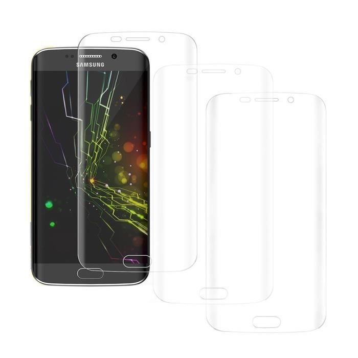 Surface courbe films de protection d 39 cran x3 pour samsung for Samsung s6 photo ecran