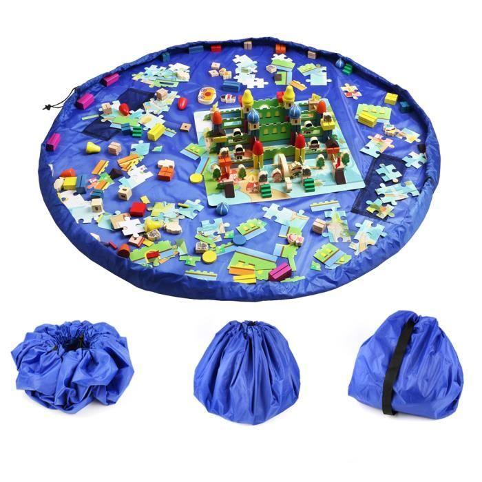 tapis de jeu pour b b sac de rangement pour jouets 60 pound bleu achat vente tapis de jeu. Black Bedroom Furniture Sets. Home Design Ideas