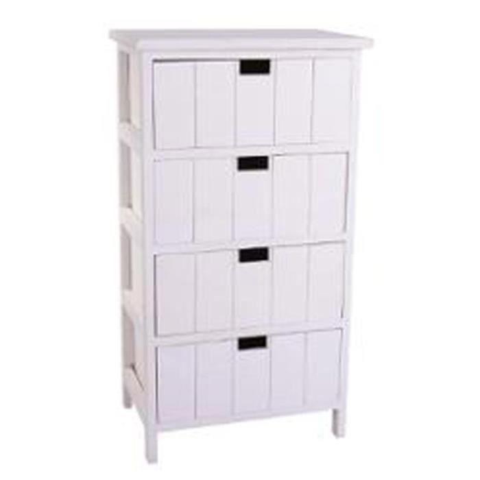 chiffonnier 4 tiroirs seuni blanc paris prix achat vente commode semainier chiffonnier. Black Bedroom Furniture Sets. Home Design Ideas