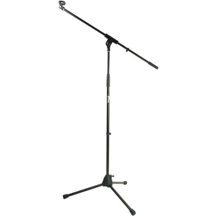 tiger mca68 bk pied de microphone perche avec pince noir pas cher achat vente pied stand. Black Bedroom Furniture Sets. Home Design Ideas