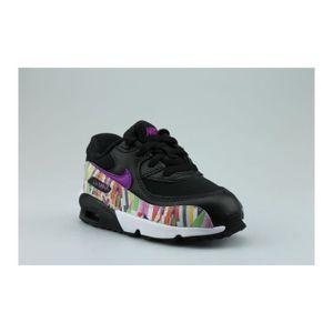 BASKET Nike Air Max 90 Print Mesh Bebe Noir. ‹›