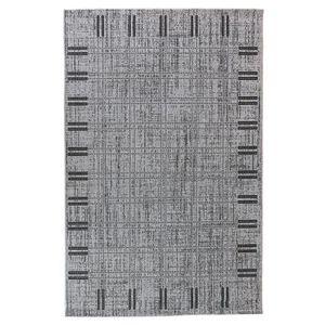 TAPIS FLOORLUXE Tapis de salon tissé plat gris 160x23...