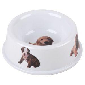 Gamelle ronde ? 19 cm - Blanc - Pour chien