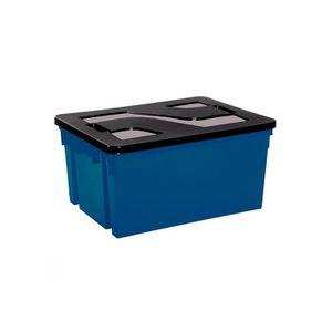caisse de rangement avec couvercle achat vente caisse de rangement avec c. Black Bedroom Furniture Sets. Home Design Ideas