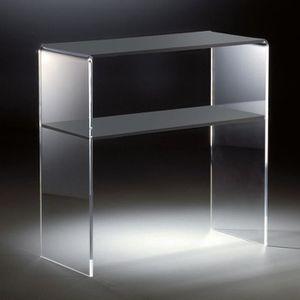 CONSOLE Console en acrylique haute qualité, 2 compartiment