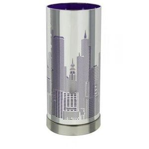 LAMPE A POSER Lampe new york violette cylindrique