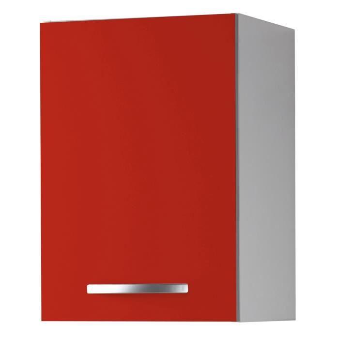Harmony caisson haut de cuisine 40cm rouge achat - Caisson de cuisine haut ...
