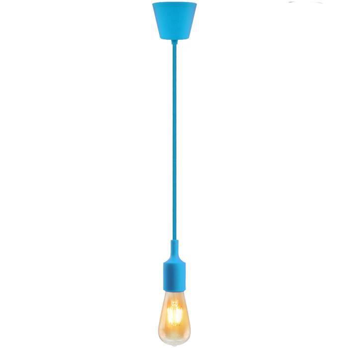 douille lampe e27 suspension silicone luminaire suspendue bleu clair couleur moderne cuisine. Black Bedroom Furniture Sets. Home Design Ideas