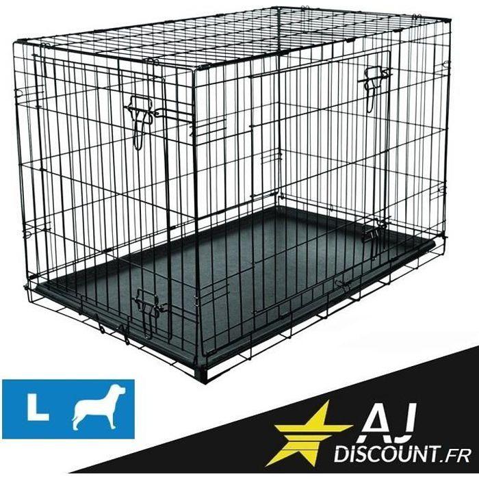 caisse de transport taille l 107x71x76 cm cage m tallique pour chien chat achat vente. Black Bedroom Furniture Sets. Home Design Ideas