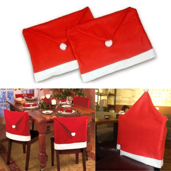 Housse De Chaise Decoration Diner De Noel