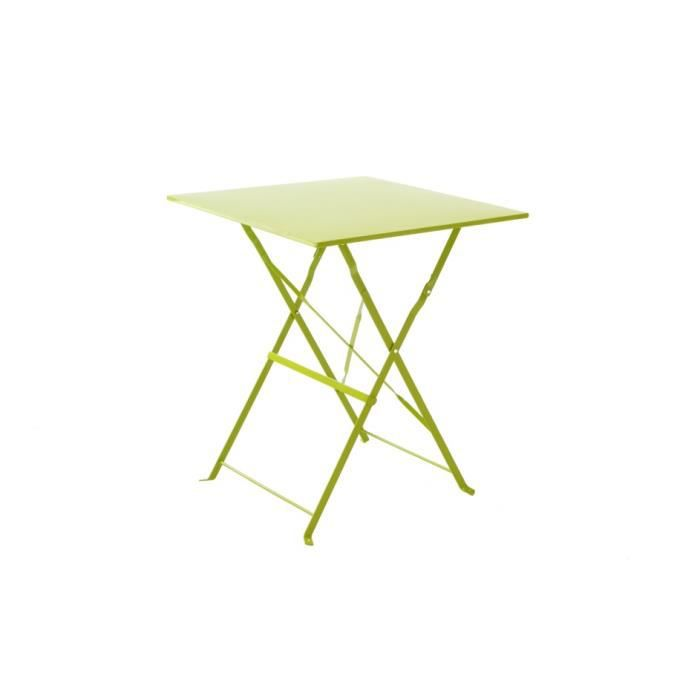 Table Bistrot Carr E Vert Anis Achat Vente Table Basse Jardin Table Bistrot Carr E Vert