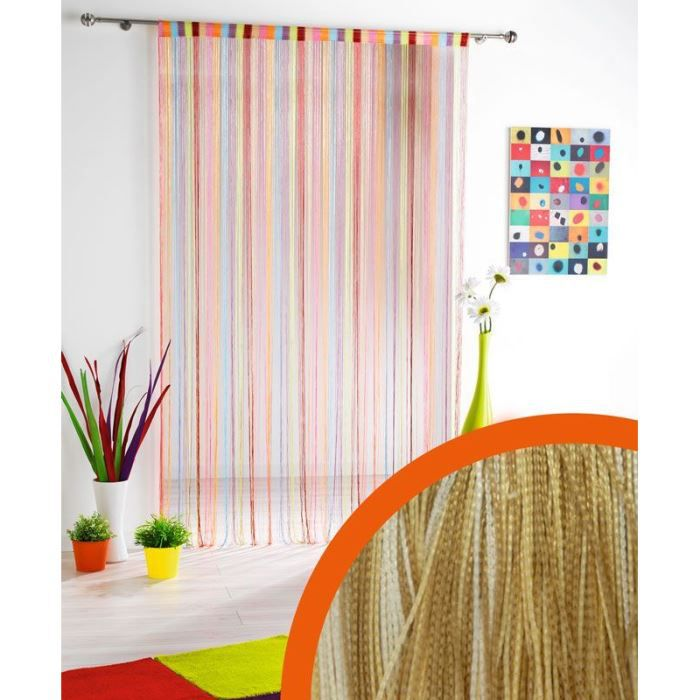 rideau fils passe tringle 140 x 240 multi achat. Black Bedroom Furniture Sets. Home Design Ideas