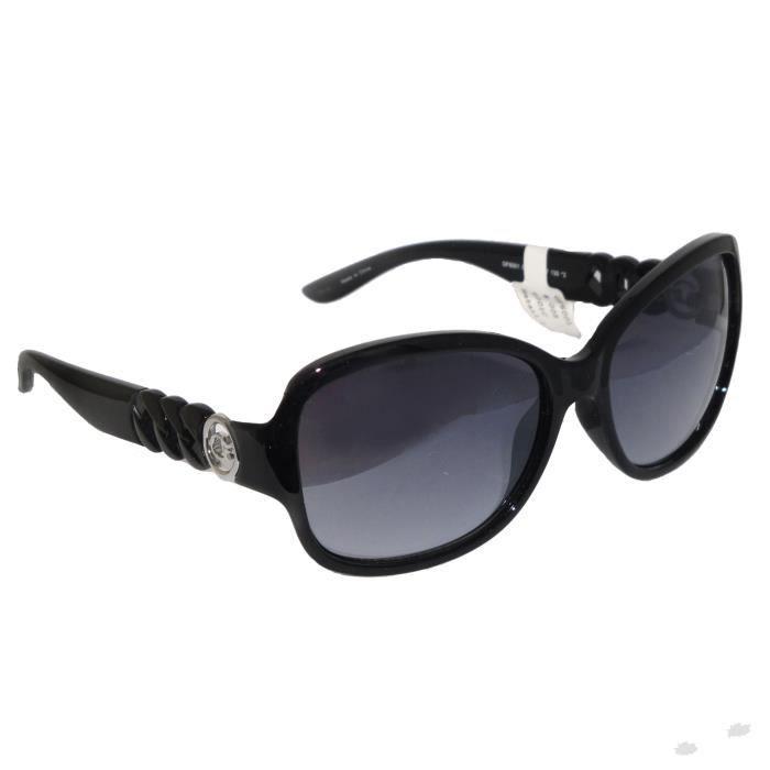 lunettes de soleil guess femme noir logo gf6001 neuf noir. Black Bedroom Furniture Sets. Home Design Ideas