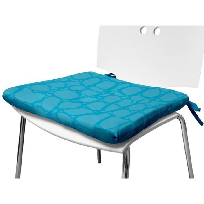 Dessus de chaise 40x40 cm croco turquoise achat vente - Dessus de chaise ...