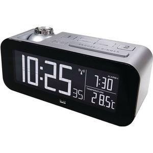 BALANCE 862458 Réveil radio contrôlé LCD - Argent/Noir